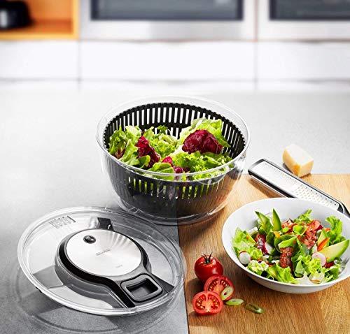 GEFU 28150 Salatschleuder SPEEDWING mit Ablaufsieb für Das Wasser und Einer Salatschüssel - Schonendes...