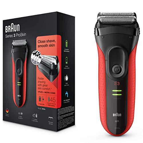 Braun Series 3 ProSkin 3030s Elektrorasierer, mit Präzisionstrimmer, wiederaufladbarer und kabelloser...