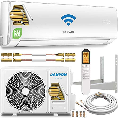 Danyon Split-Klimaanlage Quick-Connect – für 55 qm, 12000 BTU, 3,4 kW, bis 130m3, Titangold, Smart Home,...