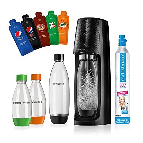 SodaStream Easy Wassersprudler-Set Vorteilspack PEPSI mit CO2- Zylinder, 2x 1 L PET-Flasche, 2x 0.5 L...