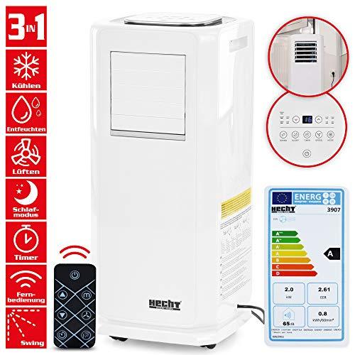 Mobile HECHT Klimaanlage mit 8 Funktionen (NEU) – Kühlen, Lüften, Entfeuchten – lokales Klimagerät –...