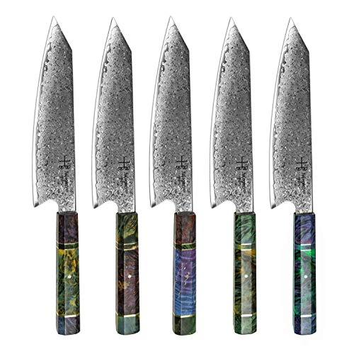 Hajegato Damastmesser Küchenmesser Einzigartiges Griff Kochmesser Profi Messer Japanisches Messer Vg10 Hohe...