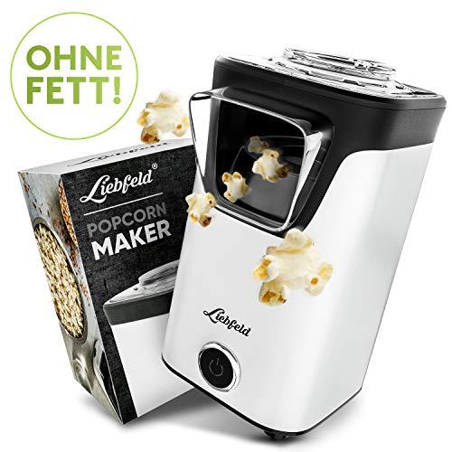 Liebfeld - Popcornmaschine für Zuhause I Popcorn Maker Machine [inkl. Pop Corn Guide] I Popcornmaker ohne...