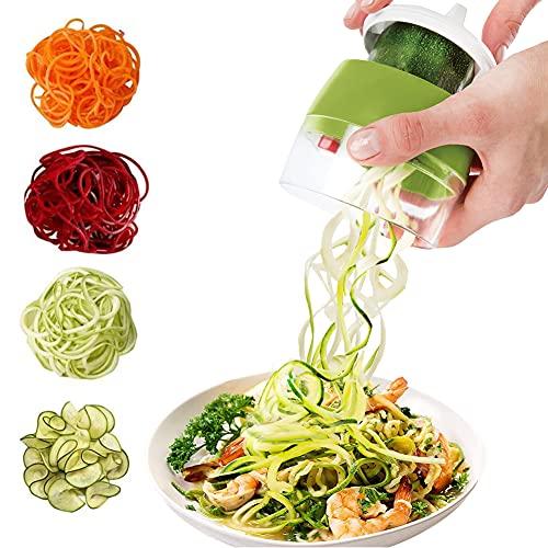 Spiralschneider 4 in 1 Gemüseschneider, Hand Spiralschneider Gemüse, Gemüsehobel für Gemüsespaghetti,...