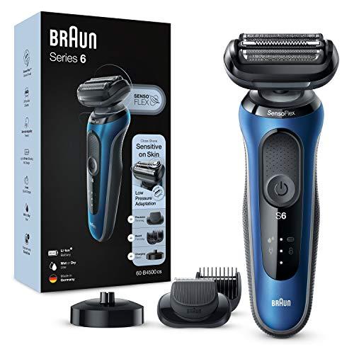 Braun Series 6cs Sensitiver Rasierer Herren, Barttrimmer, Ladestation, Wet&Dry, 50 Min. Laufzeit,...