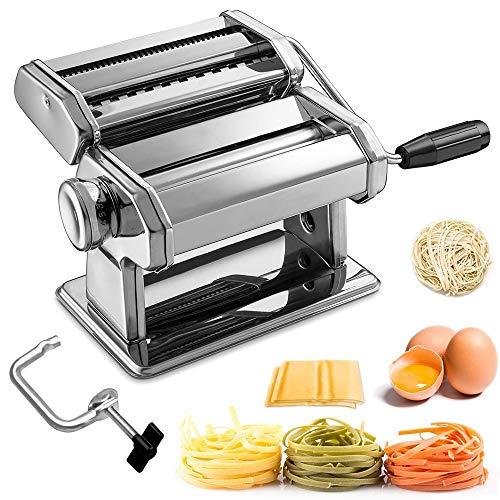 Sailnovo Nudelmaschine Pasta Maker Edelstahl Nudelmaschine für Spaghetti Nudeln Lasagne Bestes Pastamaschine...