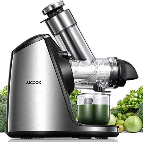 Slow Juicer, Aicook Entsafter BPA-Frei 200W mit 76MM großer Einfüllöffnung, Keramikschnecke, Zubehör für...