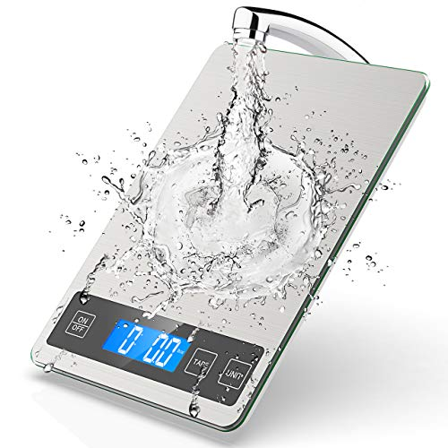 NBPOWER Küchenwaage Digital,10KG Küchenwaage Digitalwaage Haushaltswaage digital mit Großer Edelstahl...