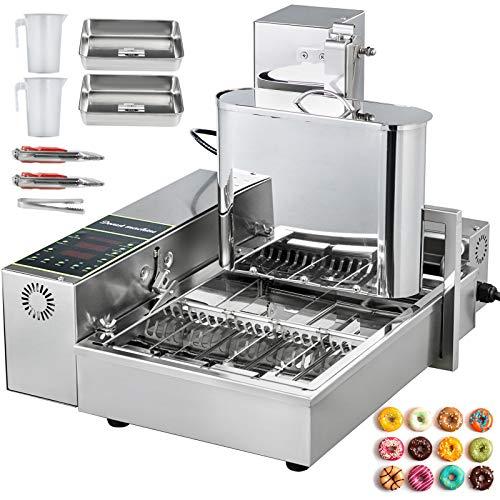 VEVOR Kommerzieller Donutmaker Automatische Donutmaschine Edelstahl 4 Reihen Vollautomatische...