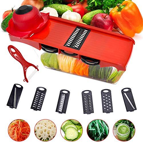 HUADADA Gemüseschneider Karottenschneider Set Gemüsehobel Zwiebelschneider Gemüseschäler
