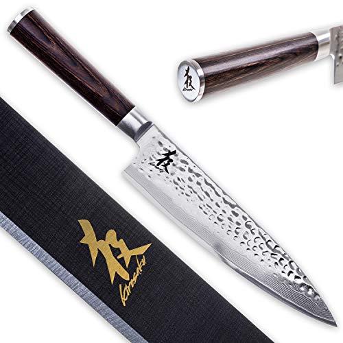 Kirosaku Premium japanisches Damast Küchenmesser 20cm – Enorm scharfes Küchenmesser aus hochwertigen...