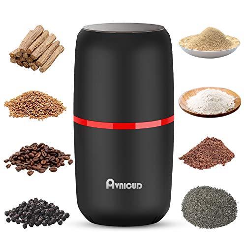 AVNICUD Kaffeemühle, Kaffeemühle Elektrisch, Gewürzmühle, 120g Fassungsvermögen Tragbare Elektrische...