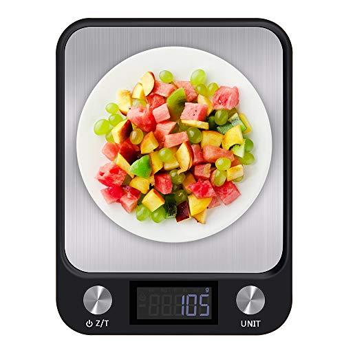 Senders Küchenwaage Digitalwaage 1g bis 10 Kg Elektronische Waage Haushaltswaage mit großem LCD-Display,...