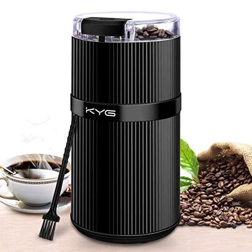 KYG Kaffeemühle Mini Kaffeebohnen Elektrisch Füllmenge 30g Kaffeemühle mit Edelstahl Schlagmesser...
