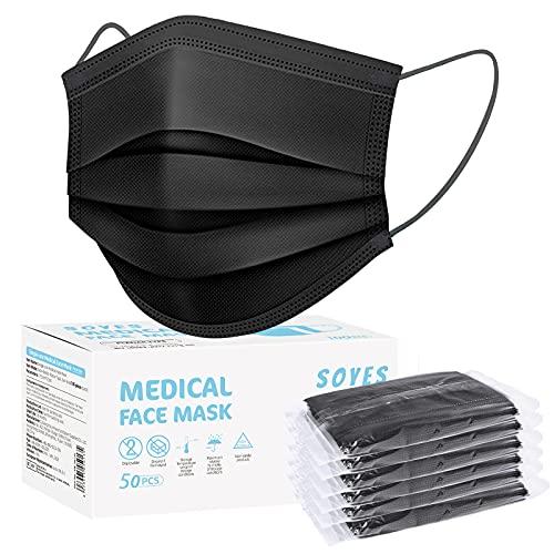 SOYES Einwegmasken 50 Stück TYP IIR 3 lagig Mund Nasen Schutzmaske - Masken Mundschutz - Maske Schutzmaske CE...