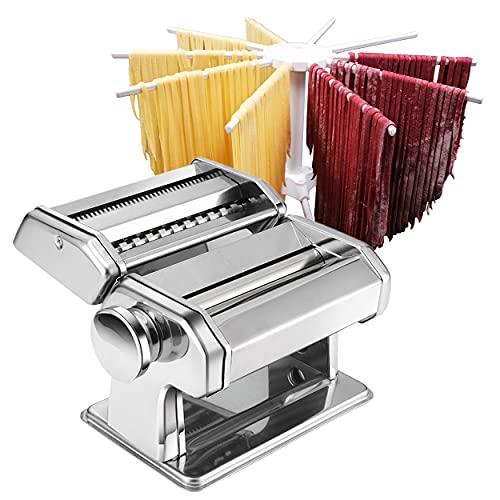 Pasta Maker, Nudelmaschine, Pastamaschine - Roller Pasta Machine - 2 in 1 Nudelwalzen - 8 Dickeneinstellungen...
