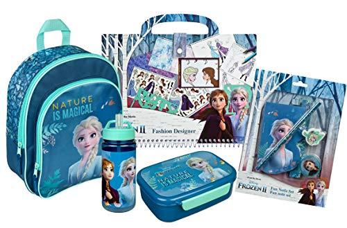 Scooli Frozen Rucksack Set 5-teilig für Mädchen Kindergarten I Kindergartenrucksack Set 5-TLG. Anna und ELSA...