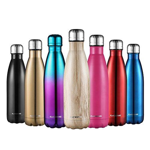 cmxing Doppelwandige Thermosflasche 500 mL mit Tasche BPA-Frei Edelstahl Trinkflasche Vakuum Isolierflasche...