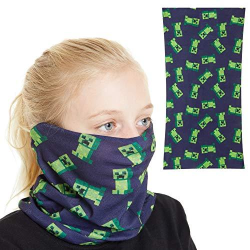 Minecraft Halstuch Mundschutz Kinder, Multifunktionstuch Kinder mit Creeper Design, Masken Mundschutz Bandana...