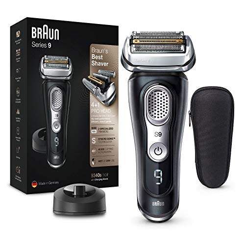 Braun Series 9 Premium Rasierer Herren mit 4+1 Scherkopf, Elektrorasierer & Präzisionstrimmer, Ladestation,...