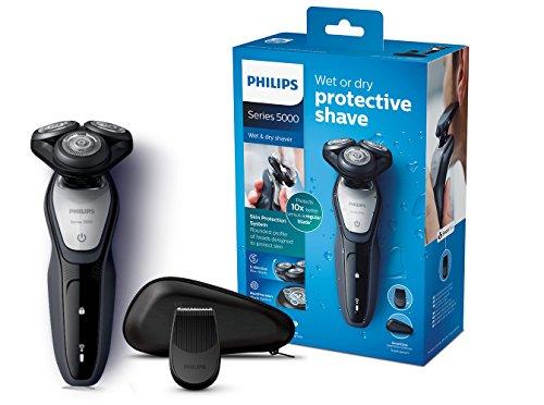 Philips S5290/12 Elektrischer Nass-und Trockenrasierer Series 5000 mit MultiPrecision-Klingen,...