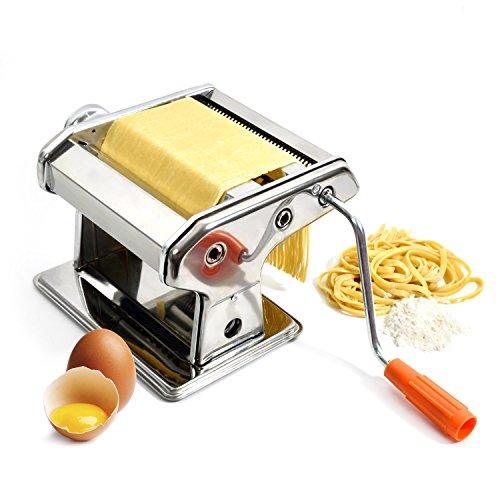 GOODS+GADGETS Nudelmaschine aus Edelstahl Pastamaker Pastamaschine; Die Nudel Maschine für frische Pasta