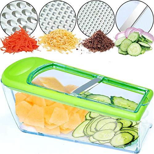 Nurch Gemüsehobel Mandolinenschneider, Multifunktion Edelstahl Gurkenhobel, 4 in 1 Verstellbar Kartoffelreibe...