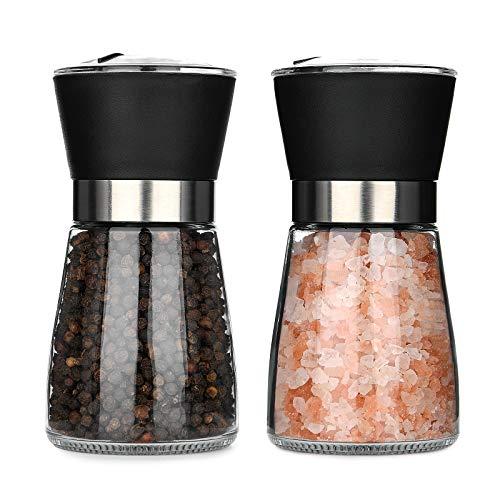Hotder Salz und Pfeffermühle, Gewürzmühle 2er Set, Pfeffermühle Und Salzmühle mit einstellbarem...