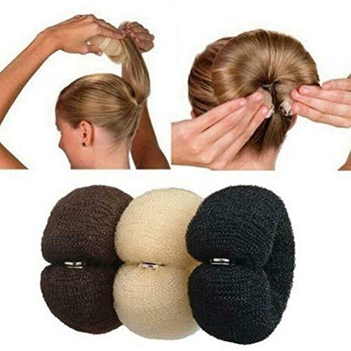 Donut Hair Bun Maker Set 3 Stück Haarstyling Frisurenhilfe Set Haarschmuck Haarkissen Donut Rolle...