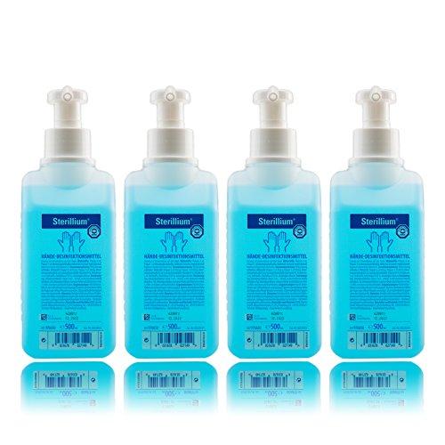 Sterillium 500ml Hände Desinfektionsmittel inkl. Vitamed Dosierpumpe, für sicheren effizienten...