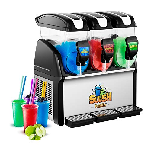 Royal Catering Slush-Eis-Maschine Slushie Maker RCSL 3/15 (3 x 15 L, 900 W, -2 bis -3 °C, BPA-frei, 8-12...