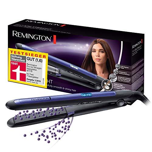 Remington Haarglätter Pro-Ion Straight S7710 zum Glätten & Locken, Testsieger, dreifache Ionen-Technologie,...