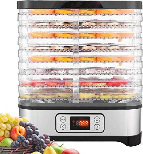 Dörrautomat mit Temperaturregler, Dörrgerät für Lebensmittel, Fleisch Frucht Gemüsetrockner, Dehydrator,...