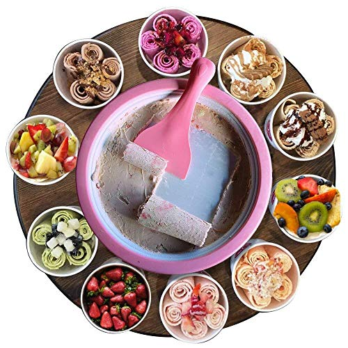 Monsterzeug Roll Eis selber machen, Eiscreme Maschine, Ice Rolls DIY Set, Rolled Ice Cream Maker, Teppanyaki,...