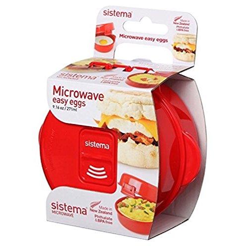 Sistema Microwave Easy Eggs Eierkocher, 271 ml, rot