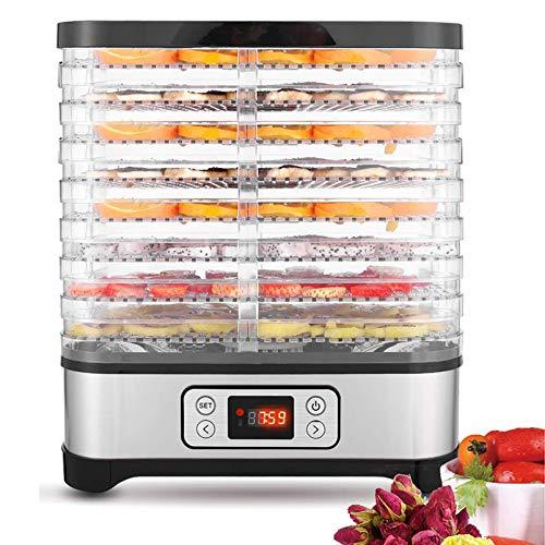 Lichire Dörrautomat,72-Stunden-Timer,Dörrautomat für Fleisch und Früchte,LCD-Display,8...