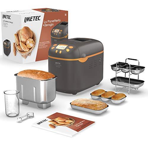 Imetec La Panetteria +Zeroglu, Gerät für Brot, Ciabattas, Brötchen und Kuchen mit natürlichen und...