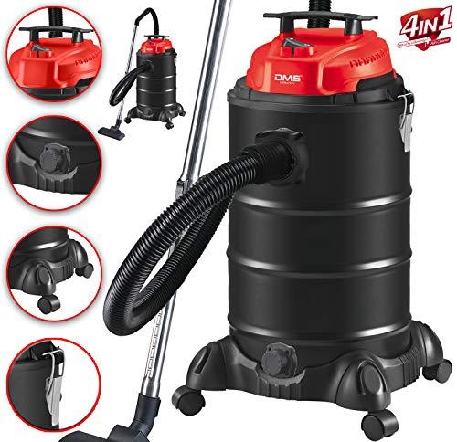 DMS® 4in1 Industriestaubsauger 1800 Watt Nass Asche Trocken Sauger beutellos 30 Liter Staubsauger Metall,...
