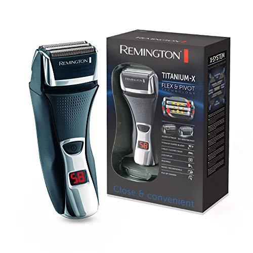 Remington Elektrischer Rasierer Herren F7800 (+LED Minuten-Display, Netz-/Akkubetrieb), Trocken-Rasierapparat,...