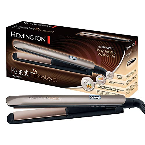Remington Glätteisen Keratin (hochwertige Keratin-Keramikbeschichtung mit Mandelöl angereichert)...