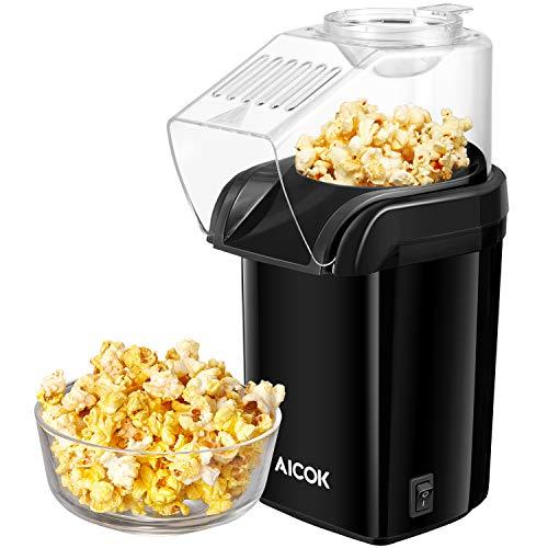 Popcornmaschine, Aicok 1200W Heißluft Popcorn Maker für Zuhause, Ohne Fett Fettfrei Ölfrei,...