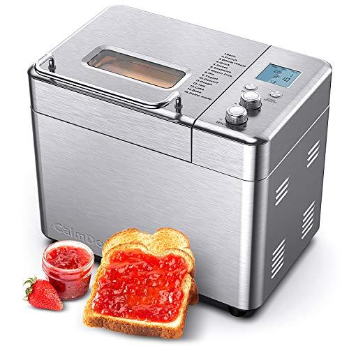 CalmDo Brotbackautomat aus Edelstahl, automatischer Toaster mit 15 Menüoptionen,60 Minuten Warm halten 15...