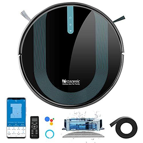 Proscenic 850T WLAN Saugroboter mit Wischfunktion, Staubsauger Roboter, Alexa & Google Home & Appsteuerung,...