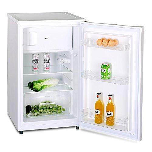 Kühlschrank mit Gefrierfach A++ (90 Liter) 4-Sterne-Gefrierfach und LED-Innenbeleuchtung, Abtauautomatik,...
