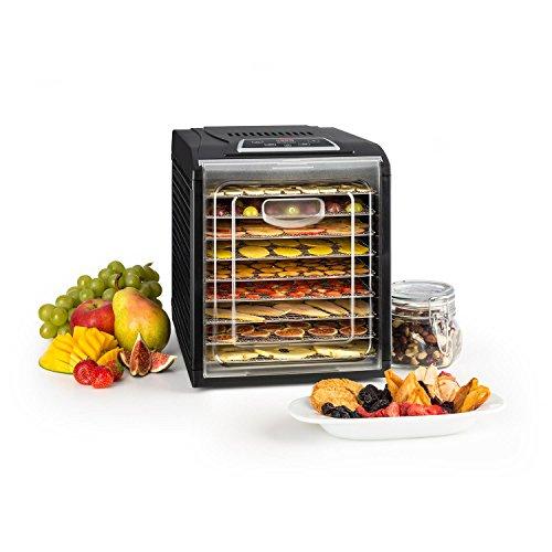 Klarstein Fruit Jerky 9 - Dörrautomat, Dörrgerät, Obst-, Fleisch- und Früchte-Trockner,...