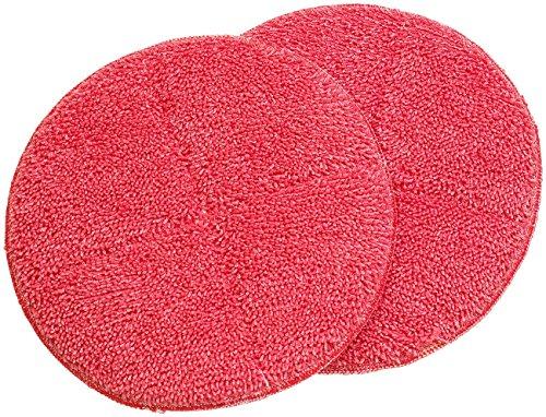 Sichler Haushaltsgeräte Zubehör zu Fußboden Poliermaschine: 2er-Set Ersatz-Reinigungs-Pads mit rauer...